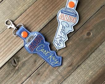 Aldi Quarter Keeper Aldi Keychain Aldi Key Chain Aldi Quarter Holder Snap Tab Key Fob Quarter Saver---70 Colors! Aldi Cart key