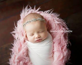 Olivia Sparkles ~ Rhinestone Headband Baby Headband Newborn Headband Christening Headband Baptism Headband