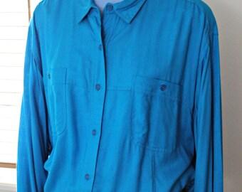 1980s Oversized Diane Von Furstenberg Shirt