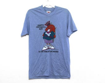 Vintage 80s tshirt Father's Day dad lion king
