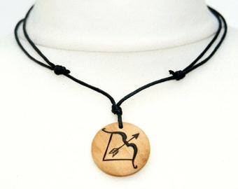 Bow and Arrow Necklace Archery Pendant Artemis Necklace Archer Hunter Jewellery Mens Ladies Gift