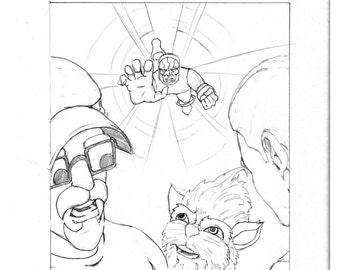 "Original Artwork - ""New Comic Day"" issue #314, Panel #4"