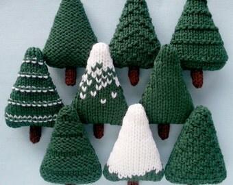 Christmas Trees Knitting Pattern