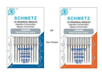 New SCHMETZ Chrome SEWING Machine NEEDLES Universal Professional Grade 80/12 or 90/14