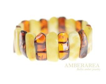 Amber bracelet. Authentic Baltic amber bracelet jewelry for Women Gift. Genuine amber. 100% Baltic amber bracelet. SU-43