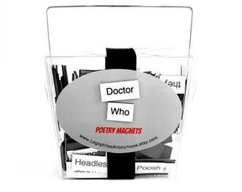 Doctor Who Poetry Magnet Set - Refrigerator Poetry Word Magnets - Dr. Who Tardis - Free Gift Wrap