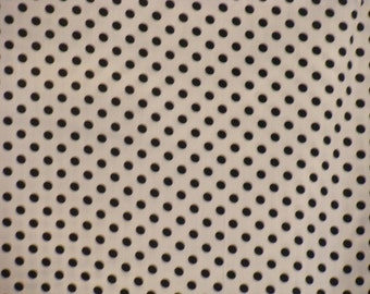 Black Dots on White  Cotton fabric BTY