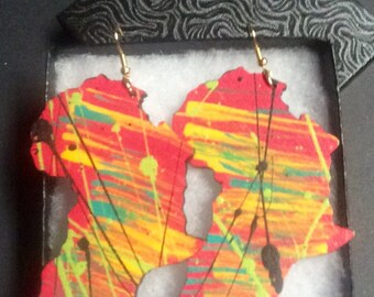Lucy - Abstract Africa Earrings