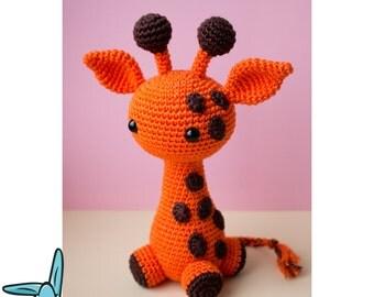 Gilly the Giraffe - amigurumi crochet pattern. Pattern language - English