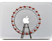 Macbook 13 inch decal sticker ferris wheel and apple art for Apple Laptop