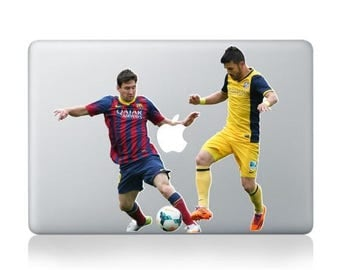 Macbook 13 inch decal sticker football Apple art for Apple Laptop
