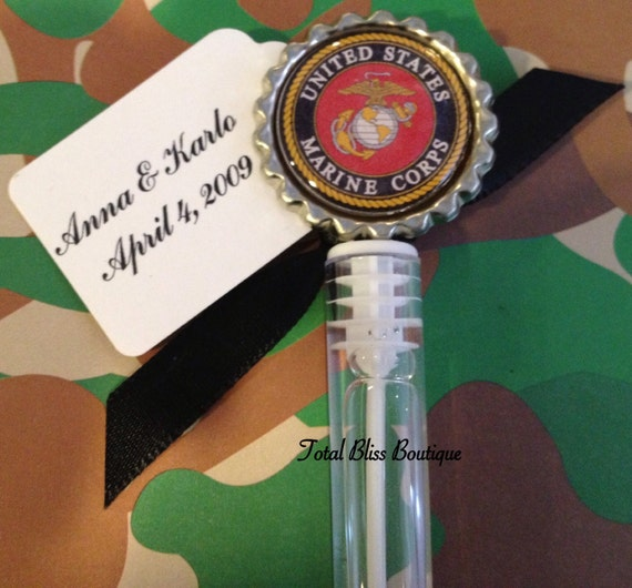 Items Similar To 10 US Marines Bubble Favors Marines Wedding Favors Military Wedding Marines