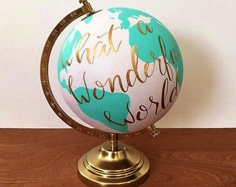 RESERVED *Custom globe for Lyndsay