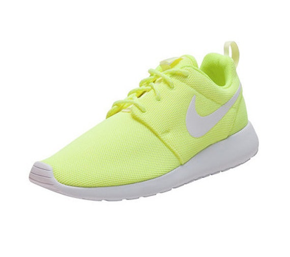 info for 2a71d 62f7e chic Bling Nike Roshe One Neon made with by CrystallizedKicks on Etsy