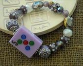 Mahjong lavande Bracelet - Bijoux de perles de Jesse James - Mahjong bijoux - violet Mahjong - Mahjong cadeau