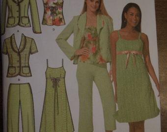 Simplicity 4238, sizes 8-16, UNCUT sewing pattern, craft supplies, misses, womens,petite,  teens, separates, dress, top, pants, jacket