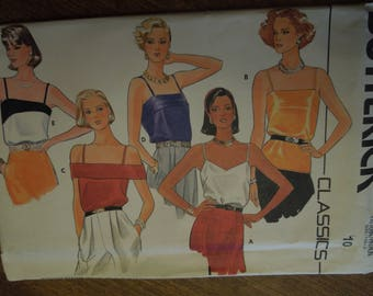 Butterick 3193, size 10, camisoles, womens, misses, UNCUT sewing pattern, craft supplies