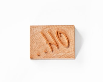 "Letterpress Catchword ""Oh..."" wood type"