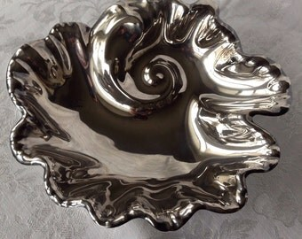 Silver Plate Shell Bowl with Legs