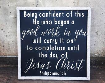 Philippians 1:6 sign