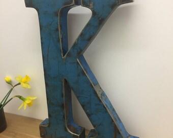 Large Metal Letter K