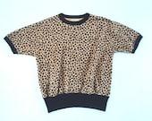 Wild 1950s Rockabilly Leopard Print Gaucho Top Medium MINT (Japan)