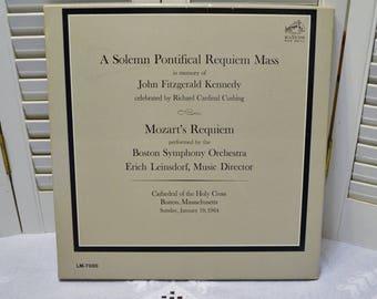 John F Kennedy Album Solemn Pontifical Requiem Mass Boston Symphony Orchestra Boxed 2 Record Set PanchosPorch
