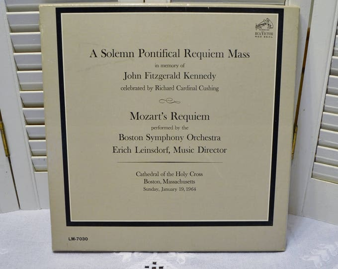 John F Kennedy Album Solemn Pontifical Requiem Mass Boston Symphony Orchestra Boxed 2 Record Set PanchosPorch