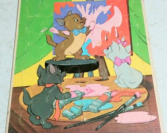 1970's Aristocats board puzzle Whitman toys vintage Aristocats puzzle