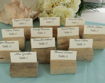 Driftwood Table Number Holders, Individual Place Card Holders, Party Table Decor, Wedding, Beach Wedding, Seating Card Holders