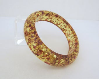 Vintage Jewelry Baltic Amber Bangle Bracelet 62MM