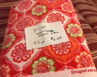 2.5 yards pre washed red bandana flannel from JoAnns