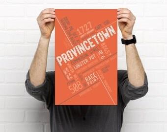 Provincetown  // Art Print // Home Decor // Townie Poster // Gift Idea // Massachusetts // Cape Cod