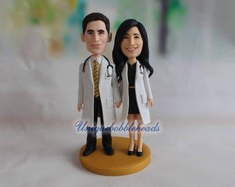doctor wedding cake topper, doctor gift, cake topper wedding, rustic cake topper, cake topper baby shower, mr and mrs cake topper, hand make