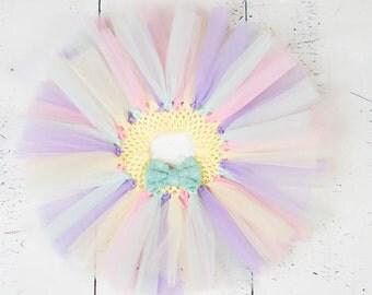 PASTEL RAINBOW TUTU,My First Easter Tutu,Colorful Tutu,Girls Tutu,Baby Tutu,Infant Tutu,Newborn Tutu,Toddler Tutu,Lavender Yellow Pink Mint
