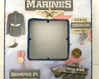 Marine/United States Military/ ArmedForces / Memorial Picture Frame