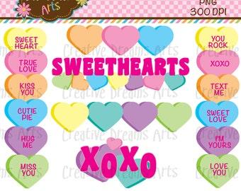 40% Off! Sweethearts Digital Clip Art Instant Download
