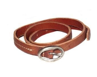 Vintage Petrol Industries Genuine leather belt brown 75 15054