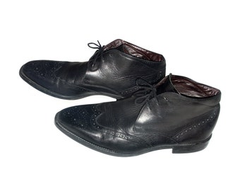 Vintage Manfield men shoes leather black