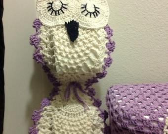 Sleepy Owl Toilet Paper Holder Pattern