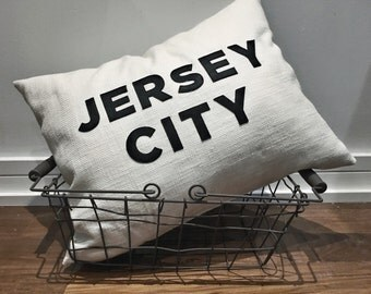 Jersey City pillow  - 16x20 - plush filled - ready for your home