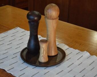"""Handturned salt shaker - Olive wood - 3 3/4"""""""