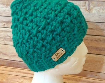 Crochet Messy Bun Hat - Ponytail Hat - Running Hat
