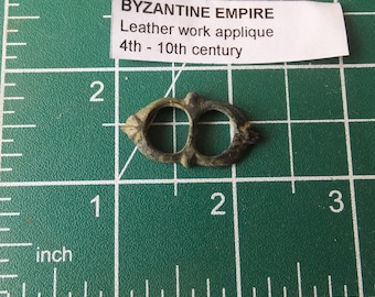 Byzantine Empire Bronze Roman Empire Leather Applique