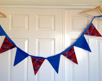 Spiderman Bunting | Nursery Decor | Banner | Flags | Boys Bedroom Decor | Home and Living | Superhero