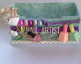 Nail Artist, Nail tech business card holder, display stand