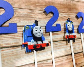 Thomas the train toppers, thomas the train cupcake toppers, train toppers , choo choo train toppers