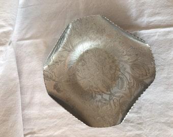 Hammered Aluminum Square Dish