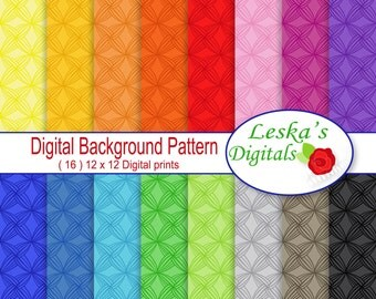"Digital Paper ""ZENTANGLE SCRAPBOOK PAPER"" Colorful digital paper pack, commercial use, instant download, printable paper, background"