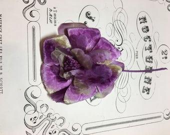 Vintage velvet millinery flower